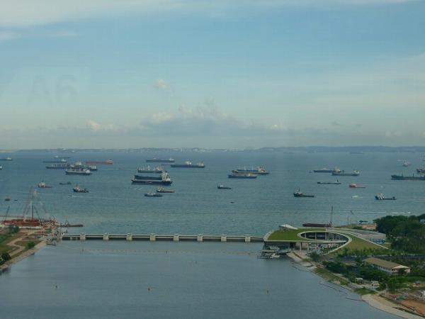 シンガポールフライヤーからの景色