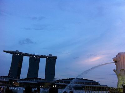 大晦日のマリーナベイサンズ@シンガポール