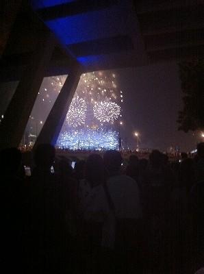 シンガポール 新年を迎える花火 マリーナベイ