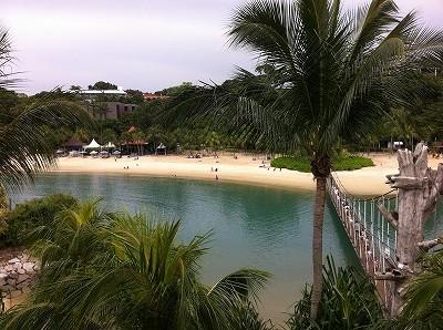 シンガポール セントーサ島のビーチ