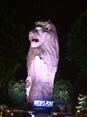 シンガポール セントーサ島のマーライオン