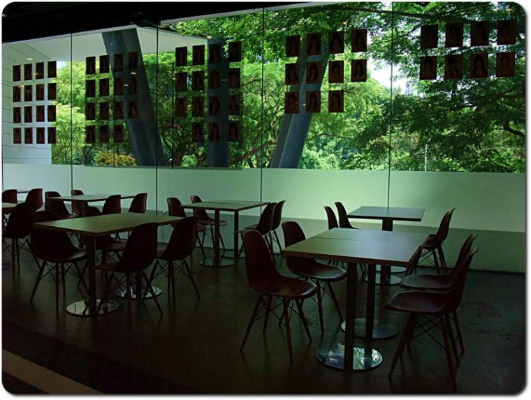 AKB48カフェ・シンガポールの緑